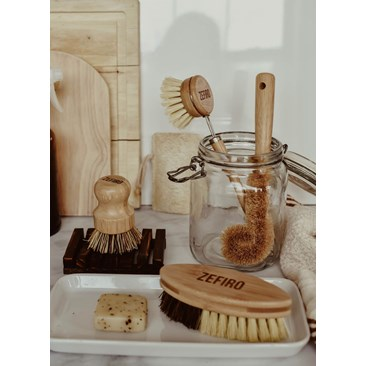 Bamboo and Sisal Brush Set