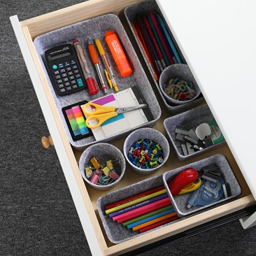 Felt drawer organizer bins s/8