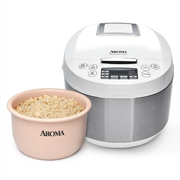 Aroma Digital Rice Cooker and Multicooker with Ceramic Inner Pot