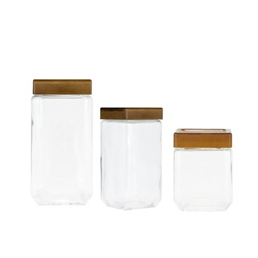 Sequoia Square Glass Canisters