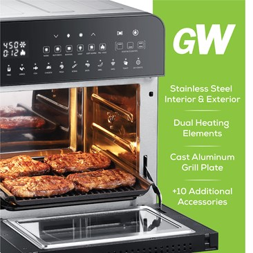 Air Fryer Oven & Grill with Dual Heating