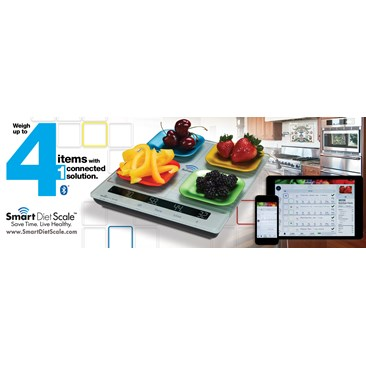The worlds smartest kitchen scale with its patented 4  quadrant sensors
