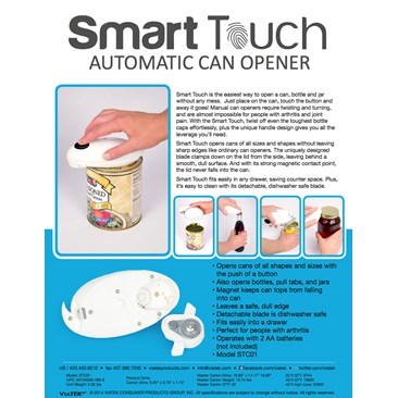 Smart Touch Can Opener