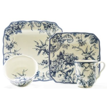 Adelaide Blue 16 Piece Dinnerware Set