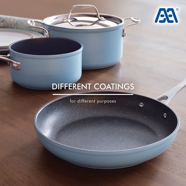Cookware w/ different coatings
