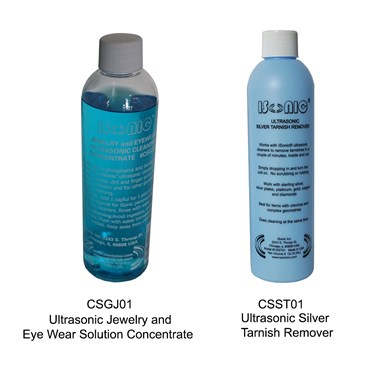 Ultrasonic cleaning solution and tarnish remover