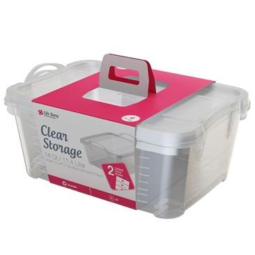 Bramli 2 Clear boxes 14 Qt