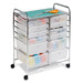Honey-Can-Do has a full line of storage carts and sorters.  This 12 drawer rolling organizer is great for arts & crafts, scrapbooking, giftwrapping, home office, children's toys and many other uses.