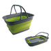 SM3275-NP(DH) Collapsible Plastic Handy Basket, Size: 47.5x36x26cm.  Great for outdoor activities.  BPA free