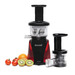 Tribest's Slowstar is a quiet, single auger juicer that slowly and easily juices your favorite fruits and vegetables. Slowstar has a low speed of 47 RPM and 3 reduction gears, which allows for higher yields and preservation of freshness and quality.