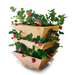 Natural Cedar Wood. Made in USA! Grow up to 28 strawberry plants! Saucer included.