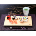 Tray for elegantly presenting sushi. The straight grain is beautiful and gives the tray a sophisticated feel.