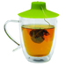 Provides a convenient way to secure the string on a tea bag for steeping, while promoting optimal brewing by trapping the heat and maximizing the brewing temperature. Also provides a clean and easy way to squeeze the tea bag, and works as a handy used tea bag holder.