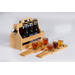 Our 6 pack carrying set includes 2 beer flight paddles, 6 tasting glasses, bottle opener and a wooden carrying set. An essential product for beer tasting, festivals and craft beer retailers.