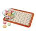 Making homemade authentic macarons has never been so easy! The Silpat® Macaron is the classic U.S. half-size mat with 20 circular indents printed on the mat for placement of dough. Bake perfect and consistent macarons each and every time