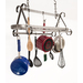 This distinctive and very functional ceiling pot rack has become an anchor to our De'cor line of mid-priced racks.