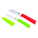 These colorful cutlery sets feature some of the most popular knives in the kitchen, all with super-sharp Japanese stainless steel blades and colorful, textured, secure-grip handles. Textured safety sheaths included. Dishwasher safe.
