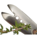 Quickly removed herb leaves with the HerbZipper.  With 4 hole sizes simply pick the appropriate size and easily remove leaves from fresh herbs.  Their is also a V-groove for larger stems.  Available in Stainless Steel with Black or Green finger grips.