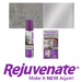 Rejuvenate® Stainless Steel Cleaner and Scratch Repair:  Strip away grease & grime then polishes to a brilliant shine in one easy application! Leaves behind a streak free protective coat and a radiant glow that makes Stainless Steel surfaces look better than new.   Repair scratches and minor damage to stainless steel with this incredible new kit. Everything you need to make you expensive stainless steel appliances new again is inside this convenient box.  Make your stainless steel new again with Rejuvenate®!