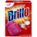 Brillo helps cut through grime and leaves tough to clean surfaces brillant wherever you clean.