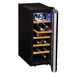 The Koolatron 12 Bottle Deluxe Wine Cellar is a great way to store and showcase your wines all in one elegant package. The 12 Bottle Deluxe Wine Cellar features double tempered glass doors, attractive wooden shelves and soft interior lighting. This compact wine cooler uses a thermoelectric cooling unit, eliminating vibrations, which can disturb sediments found in wine. The compact design makes this unit perfect for smaller homes and condos.