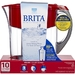 10 cup capacity, red, water filtering pitcher