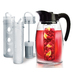 Perfect for brewing and infusing hot or cold beverages, this beverage system includes a BPA-free 2.9 Liter Pitcher plus an Tea Infuser, Flavor Infuser and Chill Core. Chill core keeps beverages cool without diluting them. Lime, Sky, Cherry, Marigold, Black.