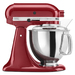 Make up to 9 dozen cookies in a single batch with the KitchenAid® Artisan® Series 5 Quart Tilt-Head Stand Mixer. This mixer also features 10 speeds to thoroughly mix, knead and whip ingredients quickly and easily and is available in a variety of colors to perfectly match your kitchen design or personality. For even more versatility, use the power hub to turn your stand mixer into a culinary center with over 14 optional attachments, from food grinders to pasta makers and more.