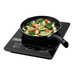 Take advantage of the fastest, safest way to cook with the Aroma Professional Induction Cooktop and Frying Pan. Induction cooks without flames - heating quicker and operating up to 70% more efficiently than traditional gas or electric stovetops. It's the perfect addition to any kitchen, RV, dorm room and so much more!  The Aroma Induction Cooktop will only operate when induction-safe cookware is in place and shuts off automatically once cookware is removed. With 8 easy-to-use digital controls, this cooktop is ideal for all of your cooking and serving needs. It's perfect for daily dishes and easy entertaining! The programmable timer sets up to 180 minutes, leaving you free to work about the kitchen instead of constantly monitoring your cooking. And since the cooktop itself does not heat, spills easily wipe away from the ceramic cooktop surface for easy cleanup.