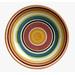 Rio multistripe colorful serving bowl