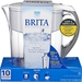 10 cup capacity, white, water filtering pitcher