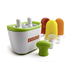 Quick, cool and designed for two, the patented Zoku® Duo Quick Pop® Maker freezes ice pops in as little as seven minutes on your countertop without electricity. It can make up to 6 ice pops before refreezing. Features a space-saving design.