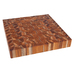 End grain cutting boards showcase the highly sought-after teak look and performance desired by top chefs and home cooks alike. The thick and durable end grain construction is gentle on knife blades, while giving the board itself a self-healing property that results in few if any knife marks over time. This square block showcases the natural beauty of teak in a package that's scaled for everyday kitchen use. Proteak's end grain chopping blocks are made entirely from our environmentally-managed plantations.