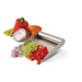 PrepTaxi Food Scoop: The inside scoop on slicing dicing and chopping.  Efficiently move prep work from the cutting board to your pan or bowl. Available in plastic too.