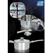 Stainless Steel Cookware with secure removable handles