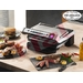 The T-fal OptiGrill is the first electric grill that cooks food automatically by measuring the thickness of the food and cooking it according to your preference, rare to well-done.