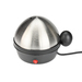 Ideal for hard boiling, soft boiling, and poaching eggs. Stainless steel lid. Stainless steel heating plate. Buzzer indicates end of cooking time. Automatic shut off. Removable lid and egg tray for easy cleaning. Capacity: 7 eggs. Also includes poaching tray for 2 eggs