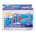 Brillo® Estracell® No Scratch Scrub Sponge with Wedge Edge® is a thicker sponge ideal for bathrooms. With a patented shape that reaches deeper into hard-to-get-to corners and crevices on most surfaces, it's great for removing build up in hard to reach places on sinks, bathtubs and all around the bathroom. The Estracell sponge side reaches in and easily wipes up and rinses dirt and soap scum down the drain.
