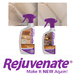 Rejuvenate® Leather & Vinyl Cleaner & Conditioner:  Rejuvenate Leather & Vinyl Renewal Products can be safely used to restore and maintain the following surface types: Natural Leather / Synthetic Leather / Vinyl  Make your leather and vinyl new again with Rejuvenate®!