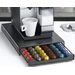 Nifty Drawer for Nespresso Capsules.  Space saving design.  The perfect accessory for the Nespresso single serve coffee system.  Holds 60 capsules.