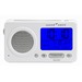Perfect travel sound machine with 19 sounds, dual alarm clock, memo button and global adapter.