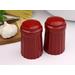Simsbury red ceramic salt & pepper shaker set