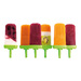 Groovy Pop Molds--cool, comfortable shapes that form easy-to-eat frozen treats. These hip molds are perfect for making homemade, healthy ice pops filled with your favorite ingredients. Each pop mold holds 4 fluid ounces. Colors Available: Green,Yellow