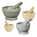 Cut out of single pieces of marble or granite, these top performers by cilio are untreated to provide a coarse inside wall to facilitate grinding.  The pestles are heavy, yet comfortably shaped to crush, grind and mix with ease. Beautiful colors and varying sizes available.