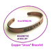 Copper bracelet with magnets.  With