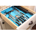 DrawerDecor is a unique system to custom organize kitchen drawers over and over again in a way never seen before.  The DrawerDecor is a sleek, modern, and colorful way to bring order to drawers.