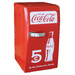 The  stylish and compact design of the Coca-Cola Retro fridge makes it a great addition to any home, office or den. This fridge uses thermoelectric technology and can chill food and drinks to approximately 36°/20°C below ambient temperature. The Coca-Cola Retro Fridge by Koolatron has a 22 liter capacity and features added storage compartments in the fridge door, and includes a removable shelf to help you better organize your food and drinks.