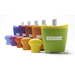 The smallest and most compact unit in the award-winning and patented Zoku® line. It freezes ice pops in as little as seven minutes on your countertop, without electricity. Can make up to 3 ice pops before refreezing. It comes in five bright colors: Purple, Red, Orange, Green and Blue.