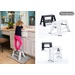 The newest addition to the lucano family, lucano 1 step stepstool is a light weight single step that is as nice to look at as it is to use.  Safety designed with no screws, we reccommend 1 step as a gift to family with children - for kitchen, lavatory, and children's room.  4 colors available: White, Black, Orange and Red.  Loading capacity: 220lbs.