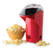 • Airflow design pops kernels faster than other methods • No oil required - provides a low calorie treat • See through chute directs popcorn into serving bowl • Removable cap melts butter and measures kernels